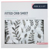 Muslin Crib Sheet, Leaves