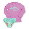 Rash Guard Set, Lilac Mermaid on Duty
