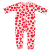 Footed Romper, Red Dots