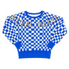 Sweatshirt, Blue Checker