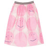 Net Skirt, Pink Smiley
