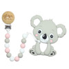 Teether with Clip, Koala Pink