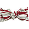 Top Knot Headband, Ribbed Burgundy Varsity Stripes