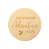 Wooden Keepsake Disc, Adventure