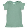 Short Sleeve Ribbed 2-Piece Outfit, Deep Sage