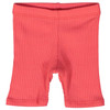 Short Sleeve Ribbed 2-Piece Outfit, Pink Coral
