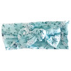 Bow Headband, Aqua Mini Floral