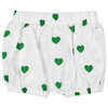 Bubble Shorts, Green Hearts