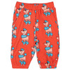 Knee Sweat Shorts, Red Poodle