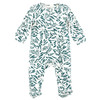Organic Cotton Footed Zip Romper, Tiger