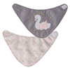 Swan Bib Set, 2-Pack