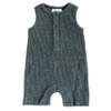 Ribbed Shorts Romper, Heather Charcoal