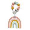 Silicone Teether Metal Clip Set, Rainbow Pastels