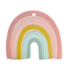 Rainbow Silicone Teether, Pastels