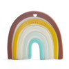 Rainbow Silicone Teether, Neutrals