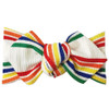 Top Knot Headband, Ribbed Rainbow Stripe