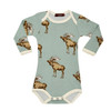 Bamboo Long Sleeve Bodysuit, Bow Tie Moose