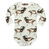 Organic Long Sleeve Bodysuit, Goat