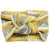 Twist Knot Headband, Yellow/Grey Stripe