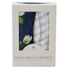 Deluxe Muslin Swaddle Set, White Anemone