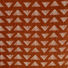 Muslin Changing Pad Cover, Rust Triangle Mudcloth