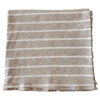 Ribbed Stretch Swaddle, Marled Taupe Stripe