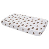 Muslin Mini Fitted Crib Sheet, Bison
