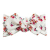 Top Knot Headband, Ribbed White Floral