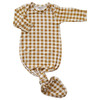 Knotted Gown, Ochre Gingham