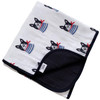 Reversible Muslin Quilt, Frenchie the Dog/Black