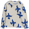 Mini Rodini Grandpa Shirt, Blue Flying Birds