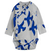 Mini Rodini Flying Birds Wrap Bodysuit, Blue