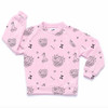 All Over Cat Sundae Raglan Sweatshirt, Sweetheart Pink