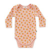 Oeuf Long Sleeve Tee Bodysuit, Pink Clementines