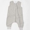 Cotton Muslin Sleep Romper, Grey Stripe