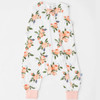 Cotton Muslin Sleep Romper, Peach Rose