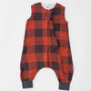 Cotton Muslin Sleep Romper, Red Plaid