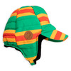 Mini Rodini Stripe Insulator Cap, Green