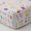 Muslin Fitted Crib Sheet, Brain Freeze