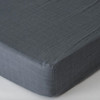 Muslin Fitted Crib Sheet, Charcoal