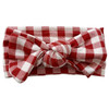 Knot Bow, Brick Gingham