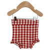 Ruffle Bloomer, Brick Gingham