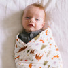 Forest Animals Bamboo Swaddle
