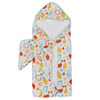 Terry Cloth & Bamboo Hooded Towel Set, Cutie Fruits