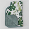 Muslin Burp Cloth, Tropical Leaf