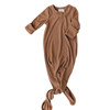 Ribbed Knot Gown, Cocoa