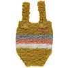 Knitted Shorties with Straps, Mustard/Coral