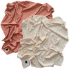 Organic Ribbed Stretch Swaddle 2-Pack, Dusty Rose & Vanilla