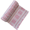Muslin Swaddle, White/Pink Mudcloth