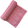 Muslin Swaddle, Pink/White Mudcloth